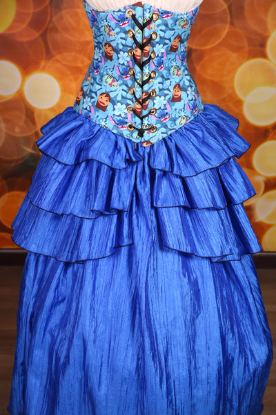 Tieranny Ruffle in Royal Blue Crushed Taffeta -Set of 2 ruffles