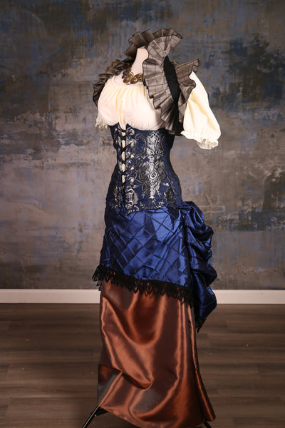 40% off Normal $139 price-Torian Corset in Navy and Silver Medallion