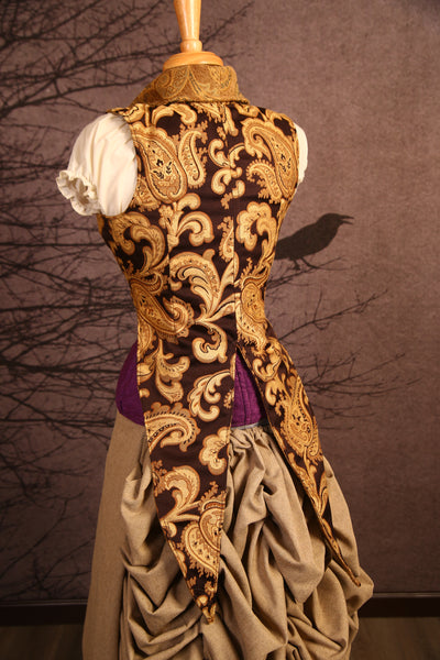 Butterscotch Vine Dandy Tailed Vest - RF2