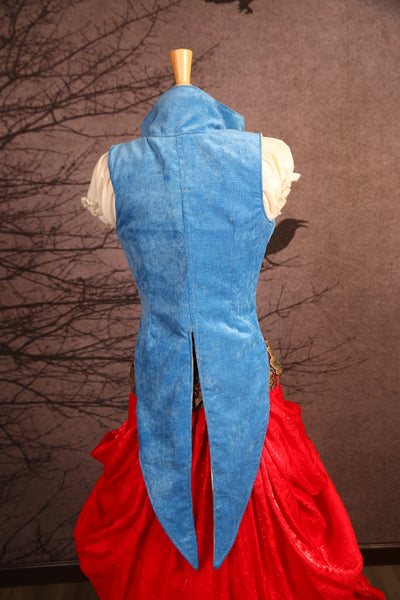 Cinderella Blue Empire Tailed Vest - RF2