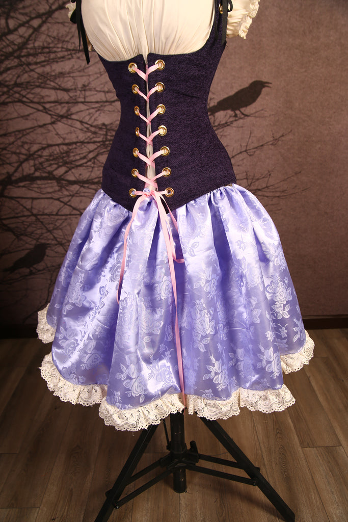 Lilac with Lace Rapunzel Oktoberfest Skirt - RI1