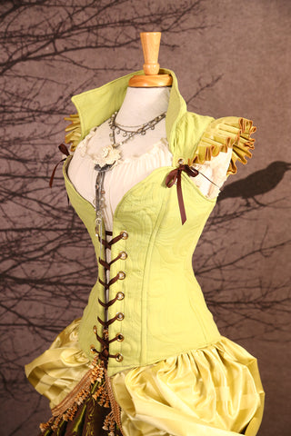 Tiana or Tinkerbell-Ruffled Courtier Corset - RH2