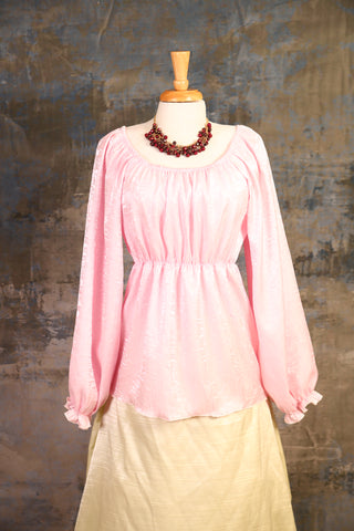 Charlotte Pink Long-Sleeve Blouse - UNK