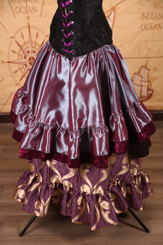Double Ruffle Salsa Skirt in Decent Iridescent