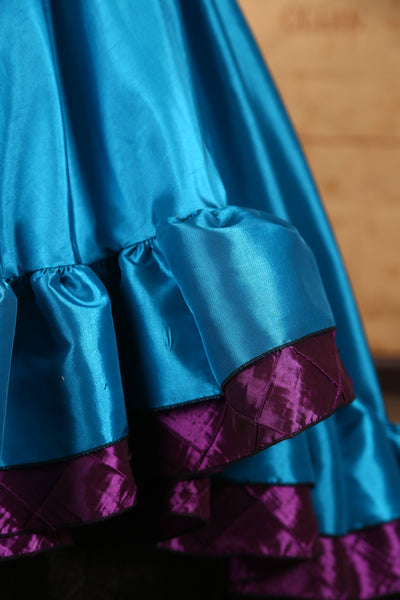 Double Ruffle Salsa Skirt in Mermaid Tale