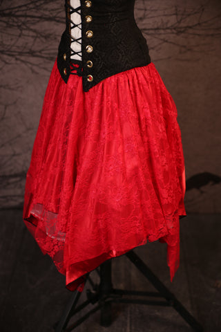 Scarlet Lace & Scarlet Long Layered Fairy Skirt