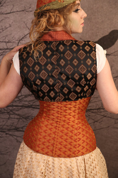 Fiery Orange Torian Corset-Perfect for Halloween!