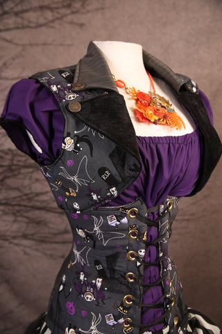 Lapel Vest in Fun Nightmare Before Christmas - RB1