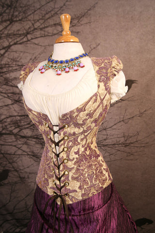 Rapunzel Corset-Damsel Style with Puffed Sleeves
