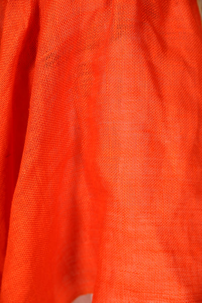 Crescent Skirt Linen Blend Hunter Orange