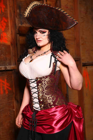 "Vixen Corset in ""Celebrate Ornate"" Damask"