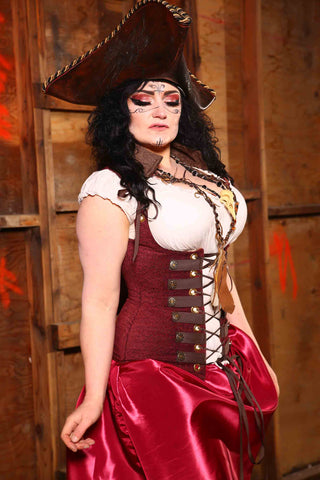 "Vixen Corset with Pirate Trim in ""Blood Brothers"""