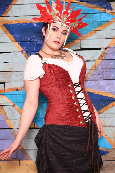 Crossfire Corset in Baked Brick