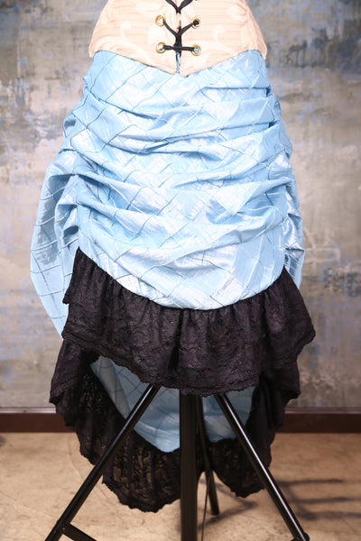 Swoon Skirt Princess Blue Pintuck with Black Stretch Lace