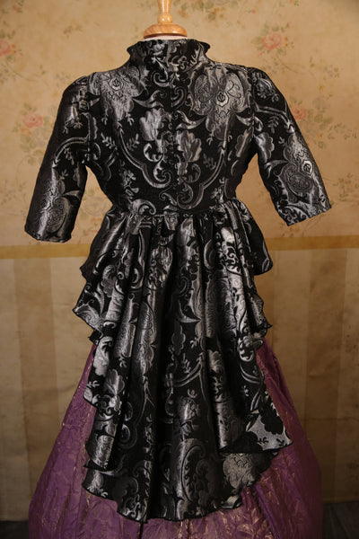 Black & Silver Medallion Eileen Jacket
