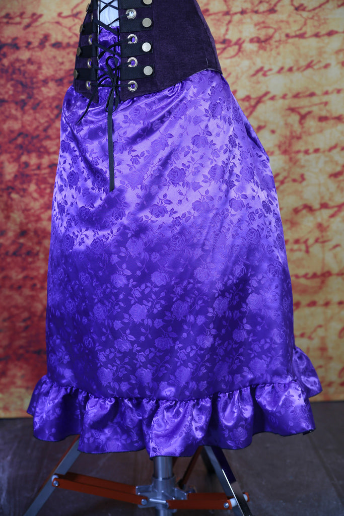 Purple Brocade Carousel Skirt