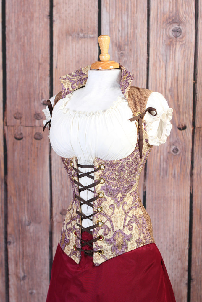 SALE-Purple and Cream Vixen Corset-Was $129