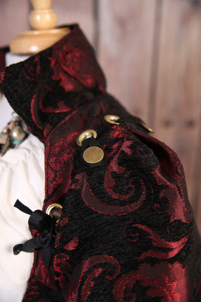 Red and Black Medallion Tie-On Sleeves