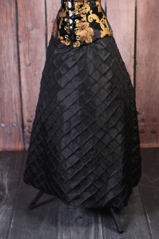 Black Pintuck Swagger Skirt - RF2