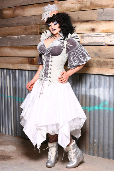 Ruffly Vixen Corset in IceIce Baby