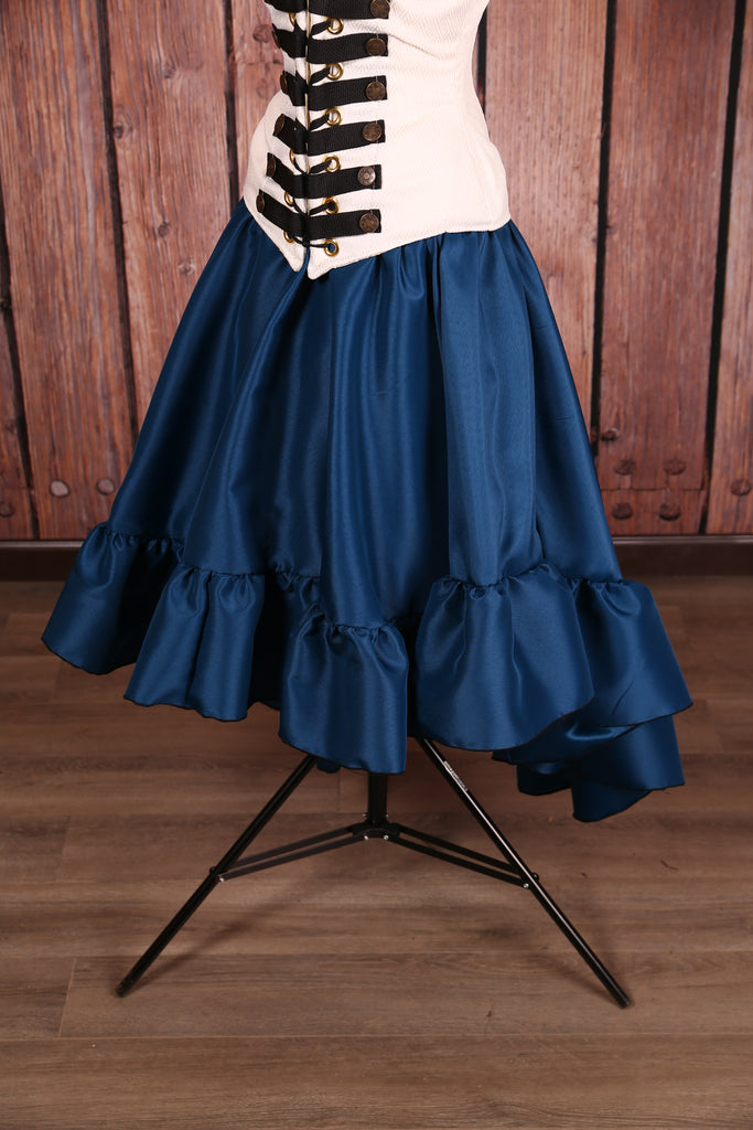 Salsa Skirt Ocean Blue Satin
