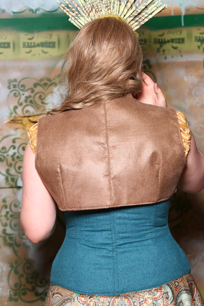 Sgt. Pepper Vest in Tan Faux Leather