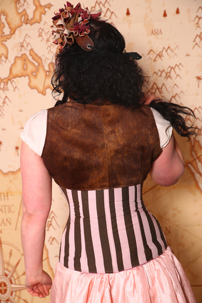 Sgt. Pepper Vest in Brown Faux Leather
