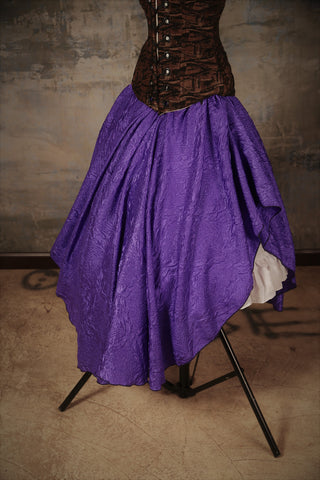 Crescent Skirt Bold Purple Crushed Taffeta