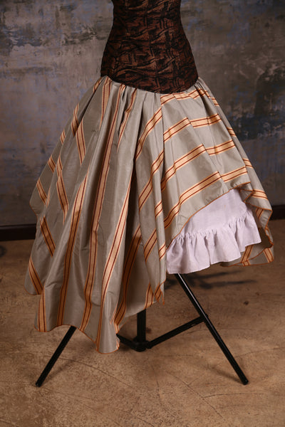 Crescent Skirt Stormy Sky Stripe