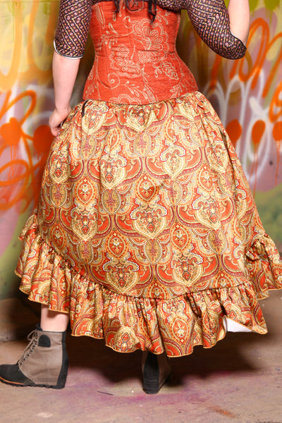 Stagecoach Skirt in Augustus Paisley