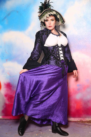Swagger Skirt in Royal Purple Crushed Taffeta