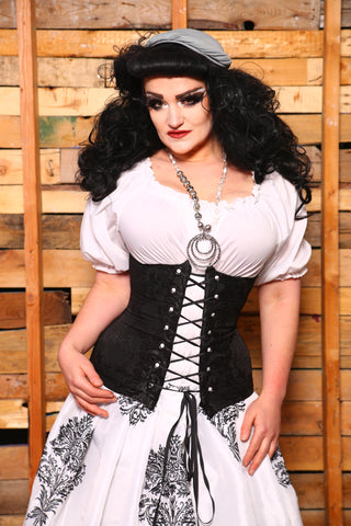 Torian Corset in Black Medallion