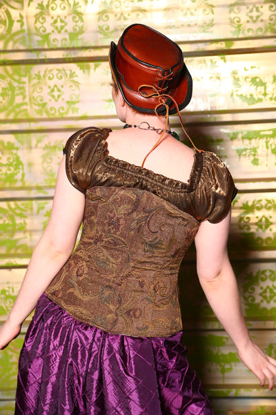 $50 BIN SALE- Normal Price $129-Torian Corset in Toadstool Floral
