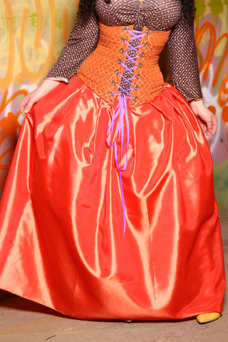 Tulip Skirt in Oompa-Loompa Orange