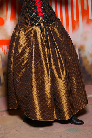 Tulip Skirt in Bronze Pintuck