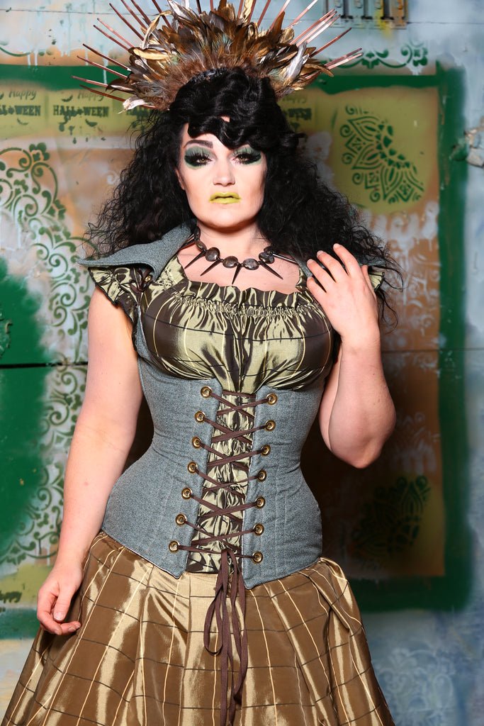 Vixen Corset with Adventure Collar in Lady Liberty
