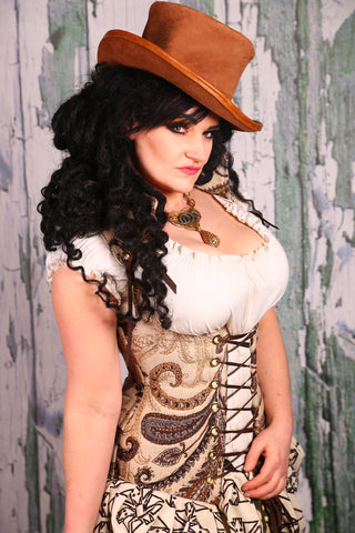 SALE! Was $149-Vixen Corset in Winter Winds