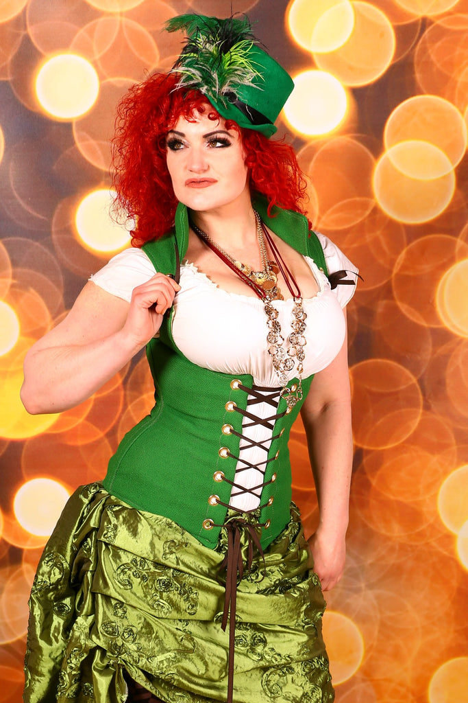 Religiously Green Vixen Corset-Perfect for St. Patrick's Day
