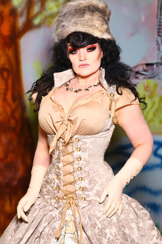 Vixen Corset in Mutton Busting Damask
