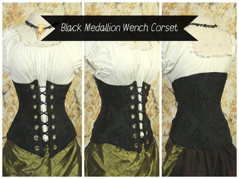 Black Medallion Wench Corset