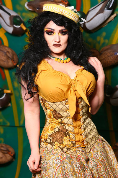 Wench Corset in Mustard Escape