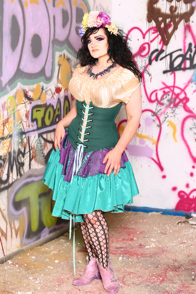 Wench Corset in Emerald Aisle