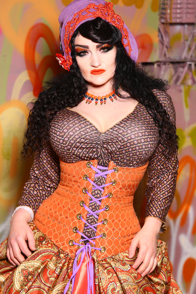 Wench Corset in Everlasting Gobstopper