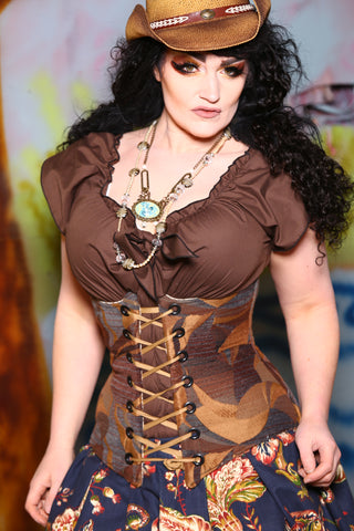 Wench Corset in Rugged Landscape