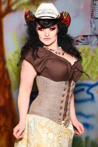 Wench Corset in Souvenir Tan