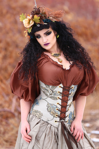 Wench Corset in Wild Underbrush