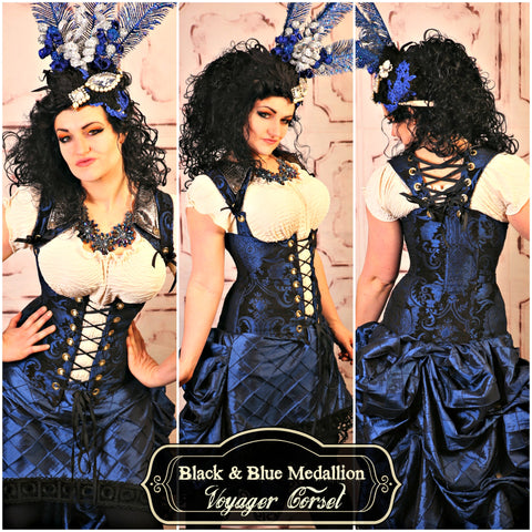 Black & Blue Medallion Voyager Corset