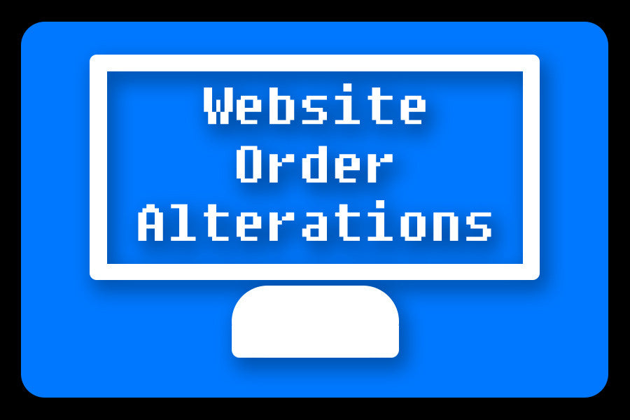 Website Order Alterations