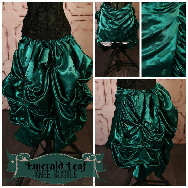 Emerald Leaf Knee Length Bustle Skirt - RH2