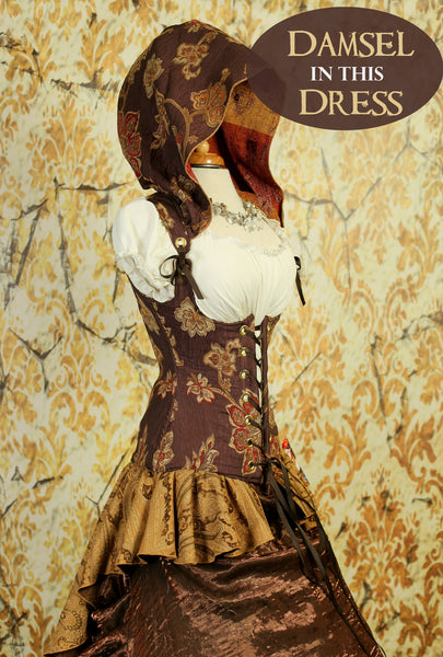 Antique Plum Floral Cloak Corset